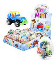 """Яйцо пластмассовое """"Тини-Мини"""" с игрушкой и драже прозрачное (12 шт/уп)"""