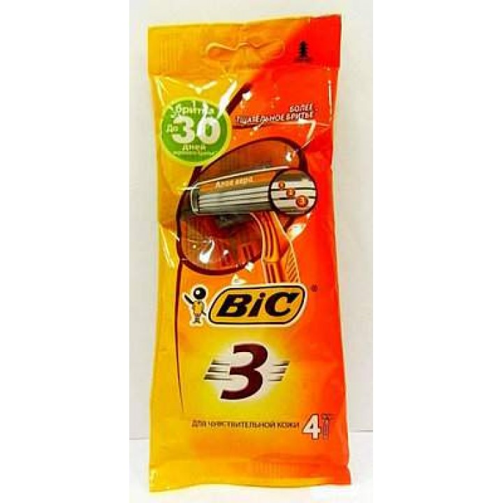 "Бритва ""BIC"" 3 Sensitive (4 шт/уп)"