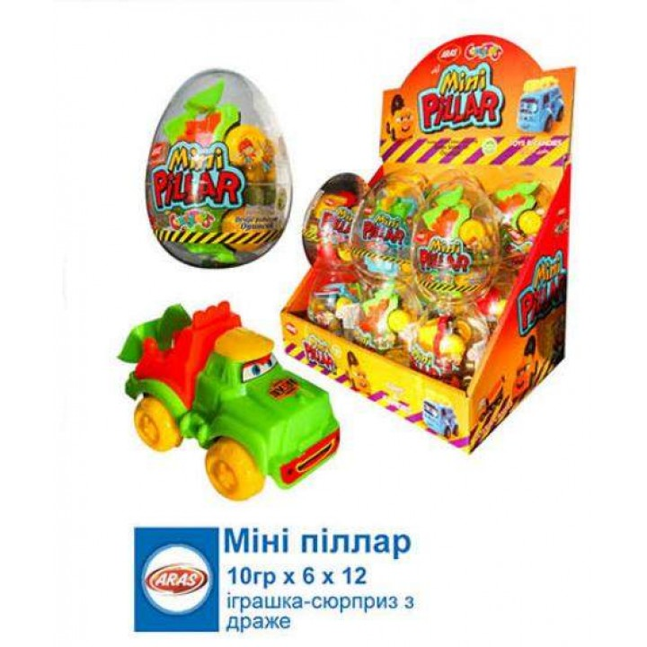"Яйцо ""Мини Пиллар"" пластиковое (12 шт/уп)"