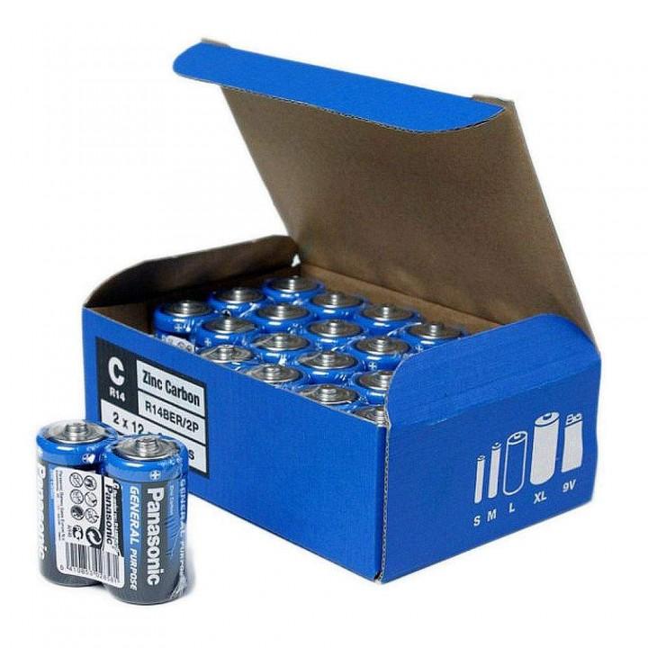 """Батарейка """"PANASONIC"""" General Purpose R14 Tray 2 Zink Carbon (мини-бочка)"""