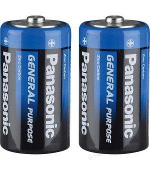 "Батарейка ""PANASONIC"" General Purpose R20 Tray 2  Zink Carbon (бочка)"