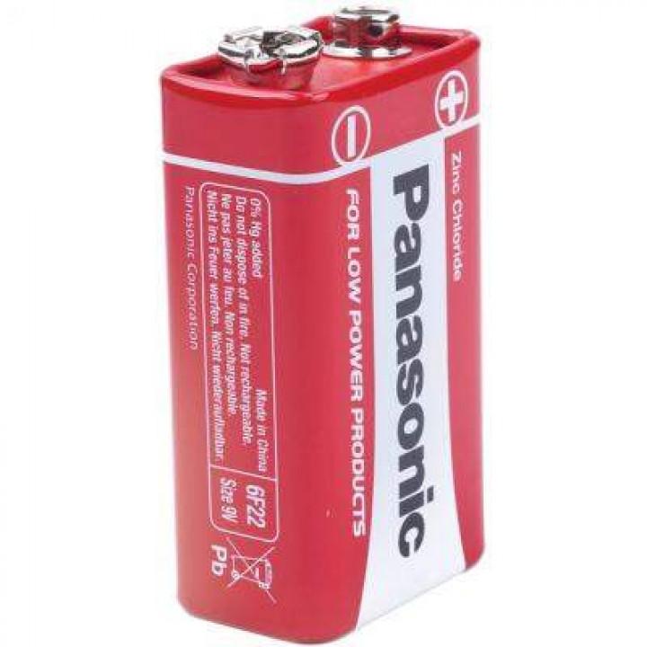 "Батарейка ""PANASONIC"" RED 6F22 BLI 1 Zink Carbon (крона)"