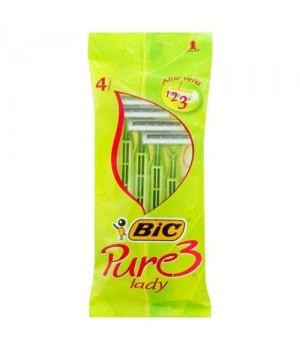 """Бритва """"BIС"""" 3 Pure Lady (4 шт/уп)"""