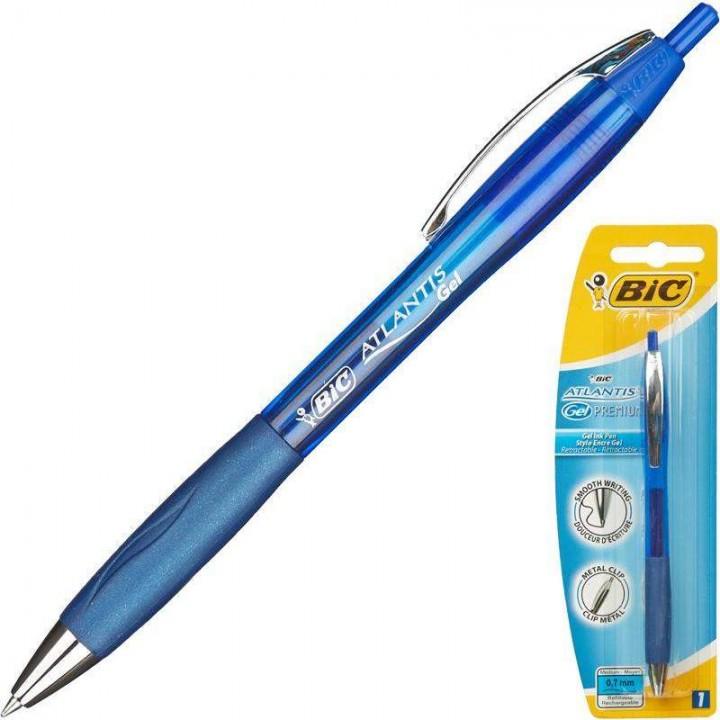 """Ручка """"BIC"""" гелевая Atlantis Gel синяя (12 шт/уп)"""