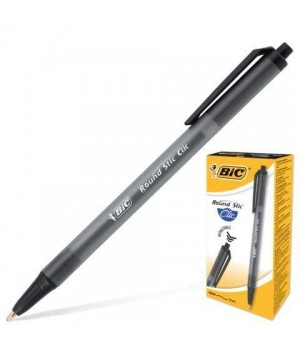 "Ручка ""BIC"" Round Stic Clic черная (12 шт/уп)"