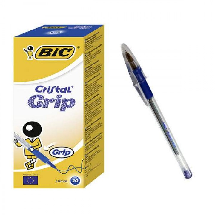 """Ручка """"BIC"""" Cristal Grip синяя (20 шт/уп)"""