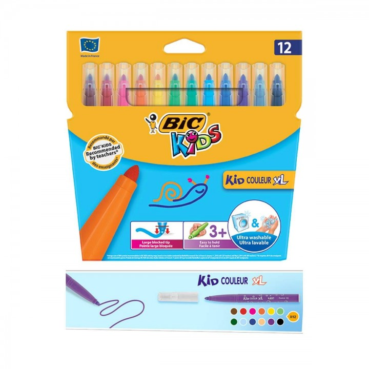 "Фломастеры ""BIC"" Kid Couleur XL (12 шт/уп)"