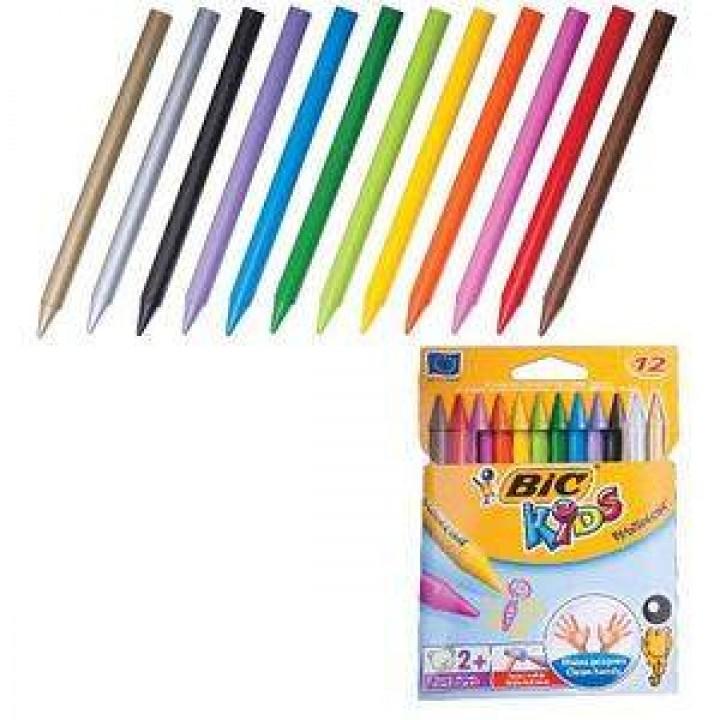 """Мелки цветные """"BIC"""" Kids Plastidecor (12 шт/уп)"""
