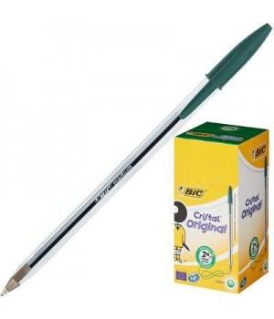 """Ручка """"BIC"""" Cristal зеленая (50 шт/уп)"""