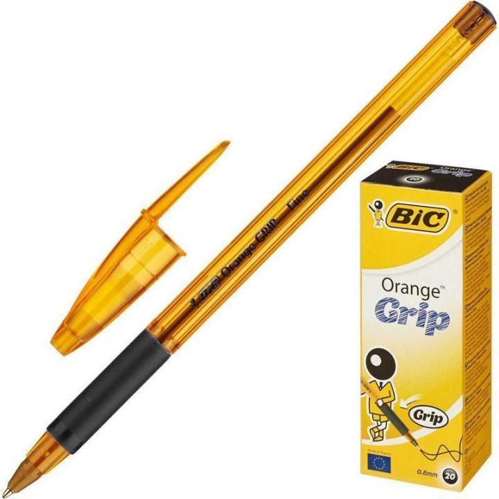 """Ручка """"BIC"""" Orange Grip черная (20 шт/уп)"""