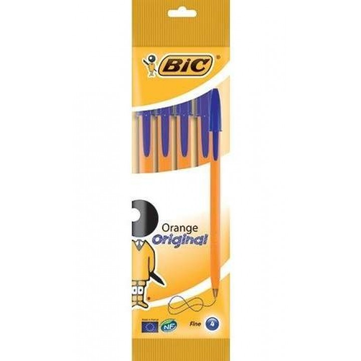 "Ручка ""BIC"" Orange синяя (4 шт/уп)"