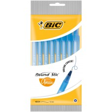 "Ручка ""BIC"" Round Stic синяя (8 шт/уп)"