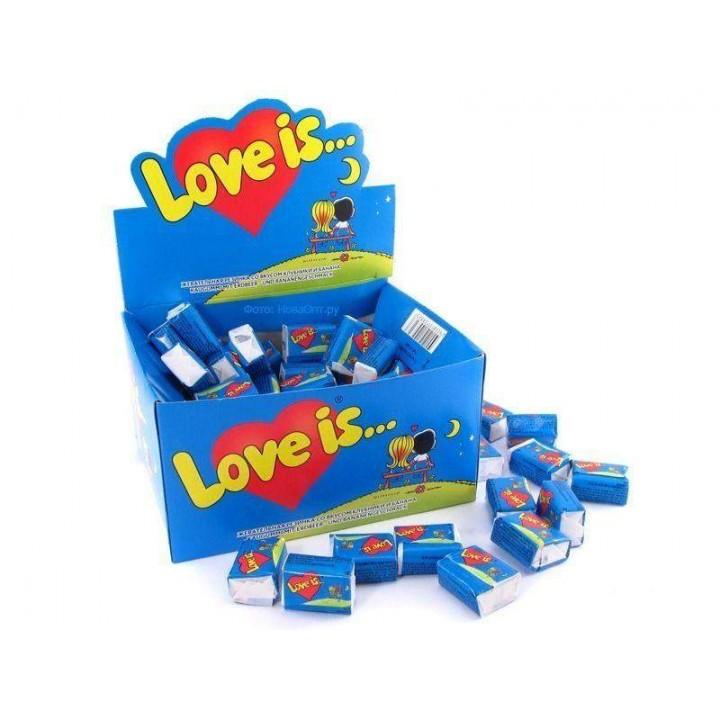 "Жевательная резинка ""Love is..."" клубника-банан (100 шт)"