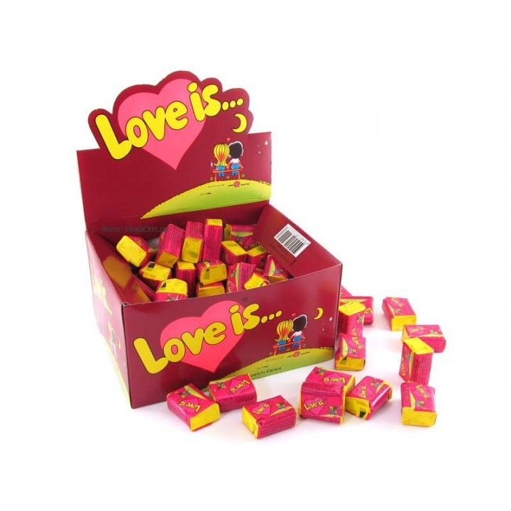 "Жевательная резинка ""Love is..."" вишня-лимон (100 шт)"