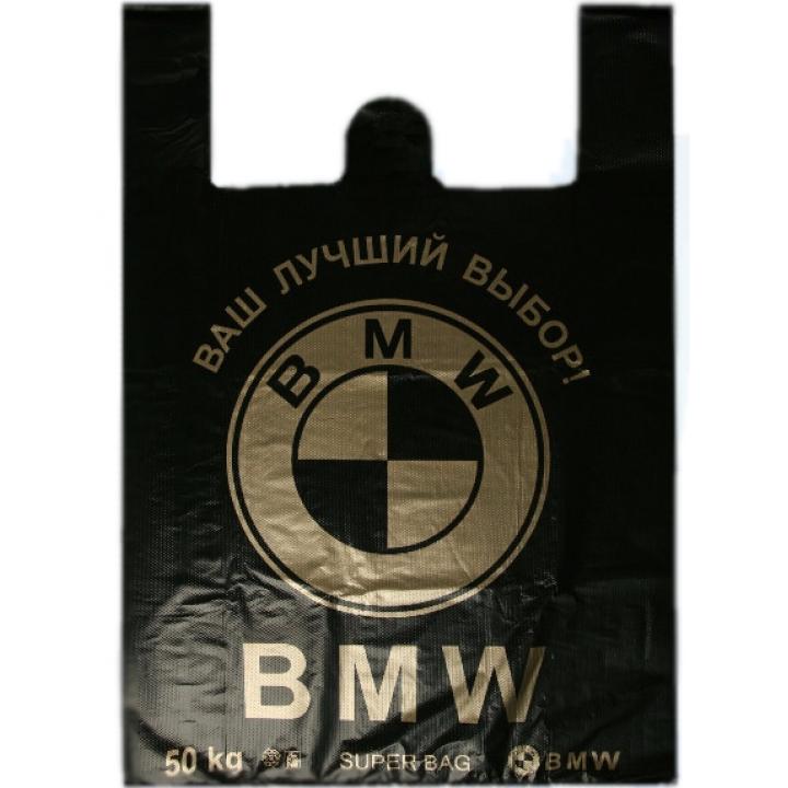 """Пакет-майка """"BMW"""" 38х56 (50 шт/уп)"""