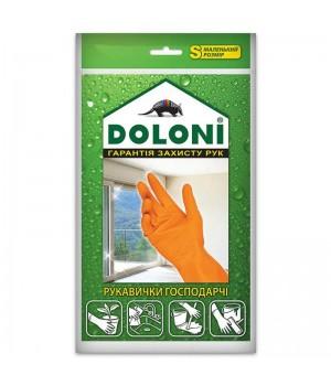"""Перчатки """"Doloni"""" 4544 хозяйственные латексные (размер S)"""