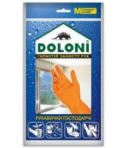"""Перчатки """"Doloni"""" 4545 хозяйственные латексные (размер М)"""