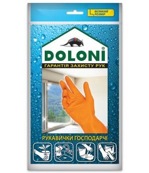 """Перчатки """"Doloni"""" 4546 хозяйственные латексные (размер L)"""