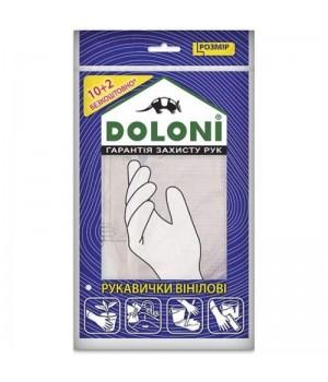 "Перчатки ""Doloni"" 4558 виниловые без пудры (размер L)"