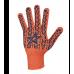 """Перчатки """"Doloni"""" 564 """"Звезда"""" рабочие трикотажные с ПВХ оранжевые 7 класс (10 размер)"""