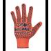 """Перчатки """"Doloni"""" 526 рабочие трикотажные с ПВХ рисунком оранжевые (10 размер)"""