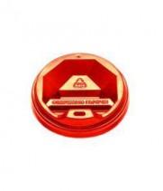 Крышка на стакан бумажный 250 мл KR75 красная (50 шт/уп)