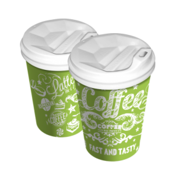 Стакан бумажный нейтральный зеленый 175 мл (50 шт/уп)