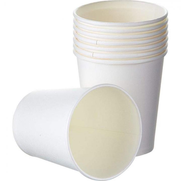 Стакан бумажный белый 250 мл (50 шт/уп)