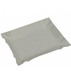 Тарелка бумажная прямоугольная (100 шт/уп)