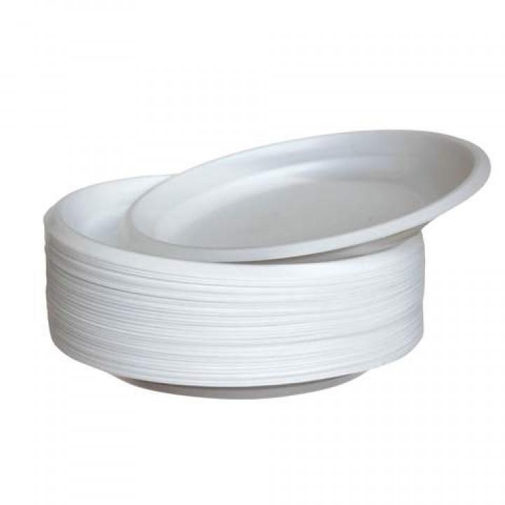 Тарелка одноразовая Эконом 205 мм (100 шт/уп)