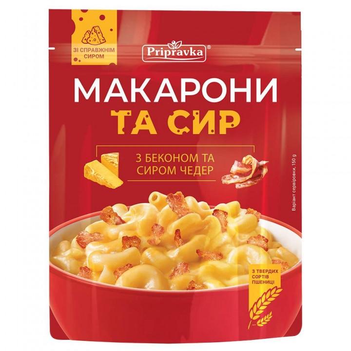 Макароны с беконом и сыром чеддер (150 г)