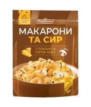 Макароны с грибами и сыром чеддер (150 г)