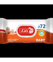 """Салфетка влажная """"Lili"""" для детей с экстрактом ромашки (72 шт) с клапаном"""