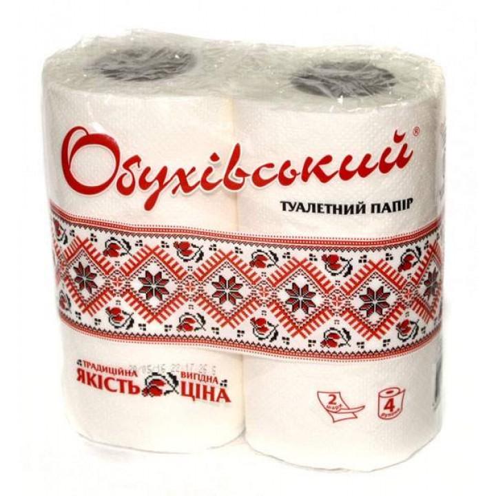 """Туалетная бумага целлюлозная """"Обуховская"""" (4 шт/уп)"""