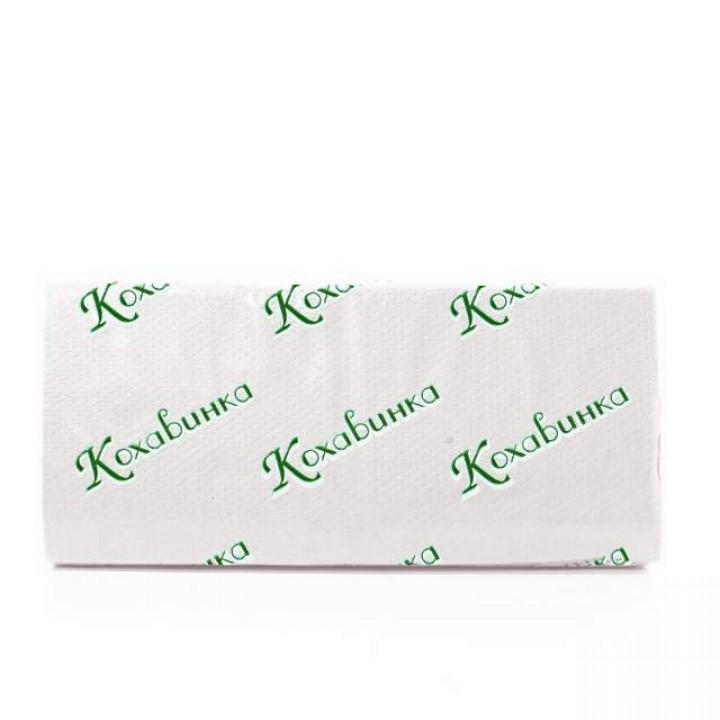 Полотенце бумажное листовое белое Z160