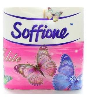 """Туалетная бумага на гильзе """"SOFFIONE"""" Elite (4 шт/уп)"""