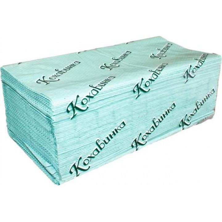 Полотенце бумажное листовое зеленое V-V 170 (Тип Z)